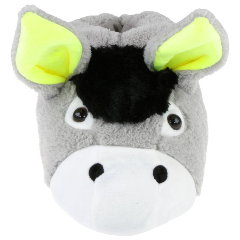 Tierhausschuhe Hausschuhe Esel, Grau