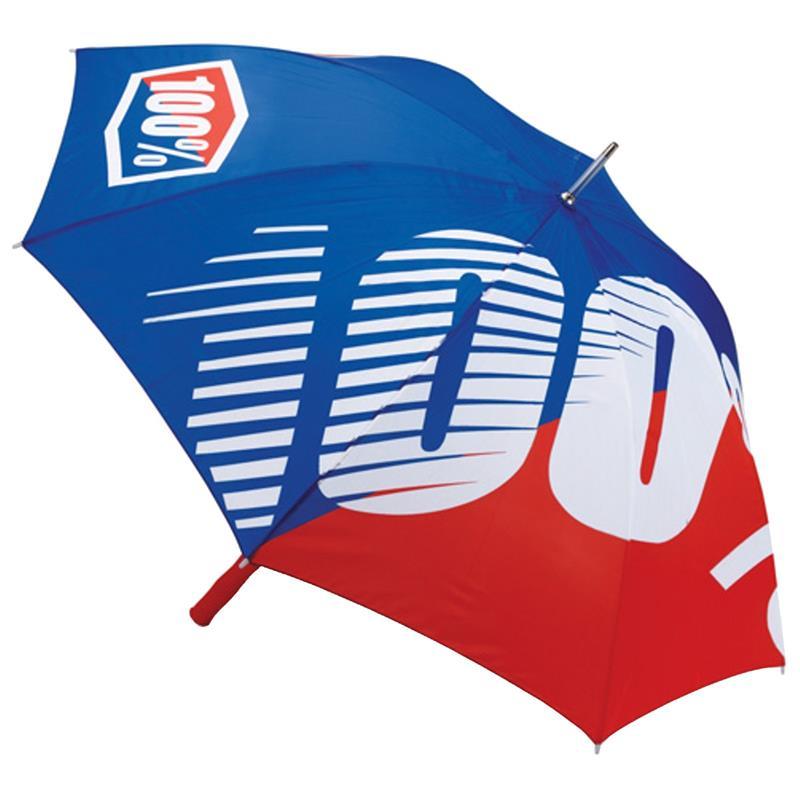 100% Regenschirm Umbrella Premium, Blau Rot