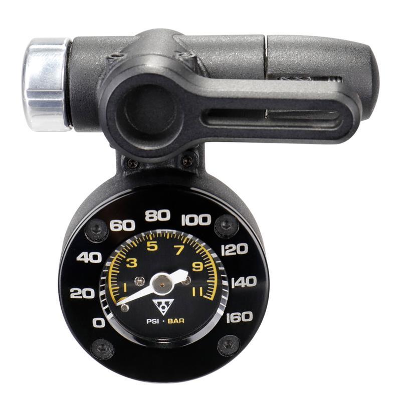 Topeak Pumpenmanometer Shuttle Gauge 2, Schwarz