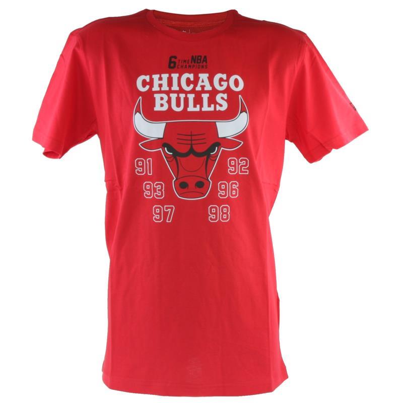New Era Herren T-Shirt NBA Chicago Bulls, Rot
