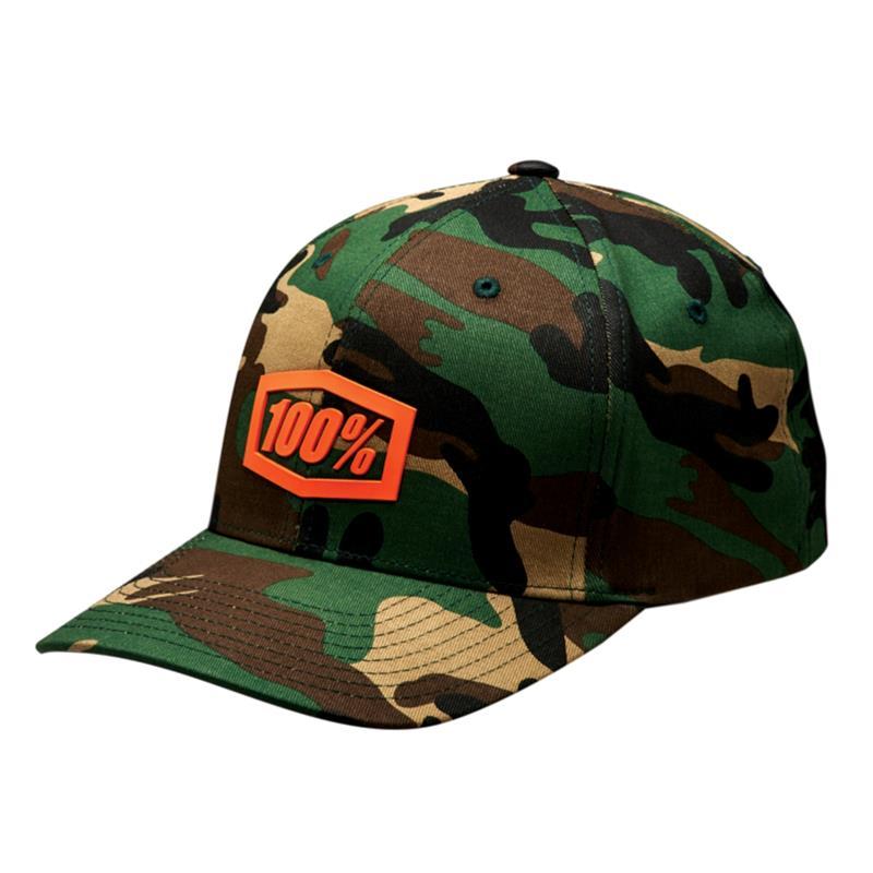 100% Unisex Kappe Trek Flexfit Hat, Grün
