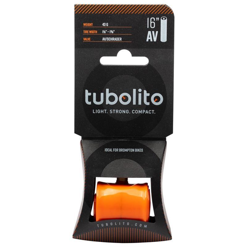 Tubolito Fahrradschlauch Tubo Folding Bike 16 AV, Orange