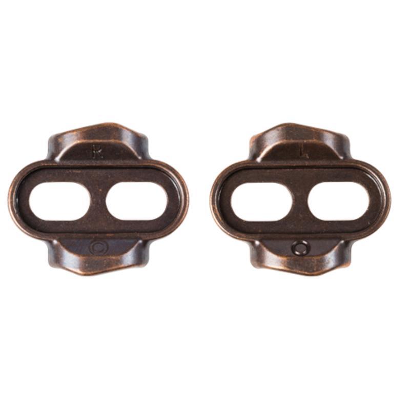 Crankbrothers Pedalplatten 2-Loch Premium Easy Zero Float Cleat, Bronze