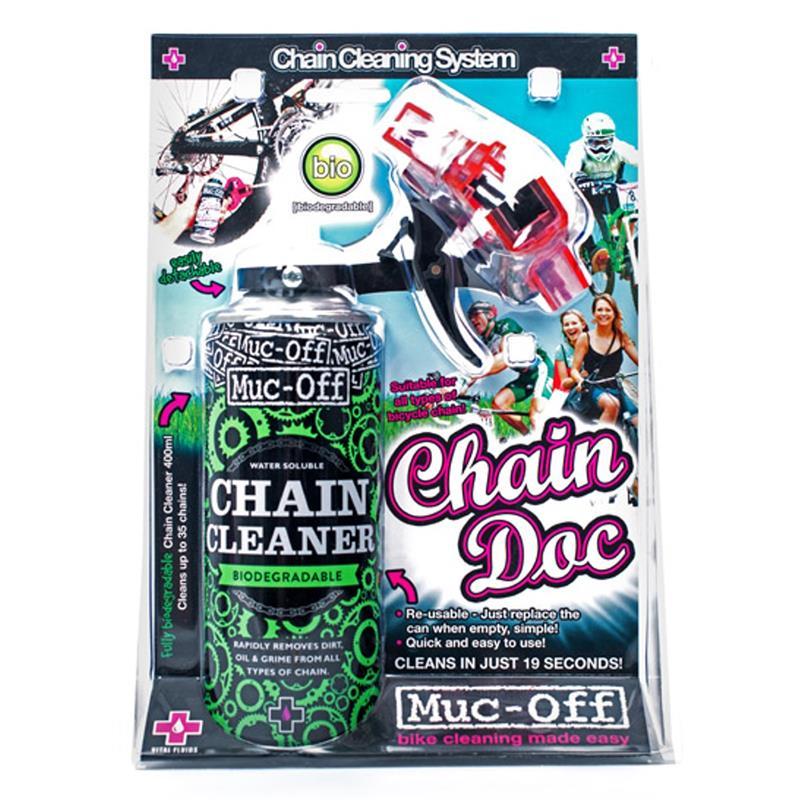 Muc Off Kettenreinigungsgerät & Reinigungsmittel Chain Doc & Chain Cleaner, 400 ml