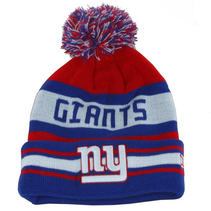 New Era Unisex Mütze Beanie New York Giants NFL Team Jake, Blau Rot