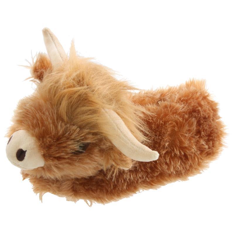Tierhausschuhe Hausschuhe Büffel, Braun