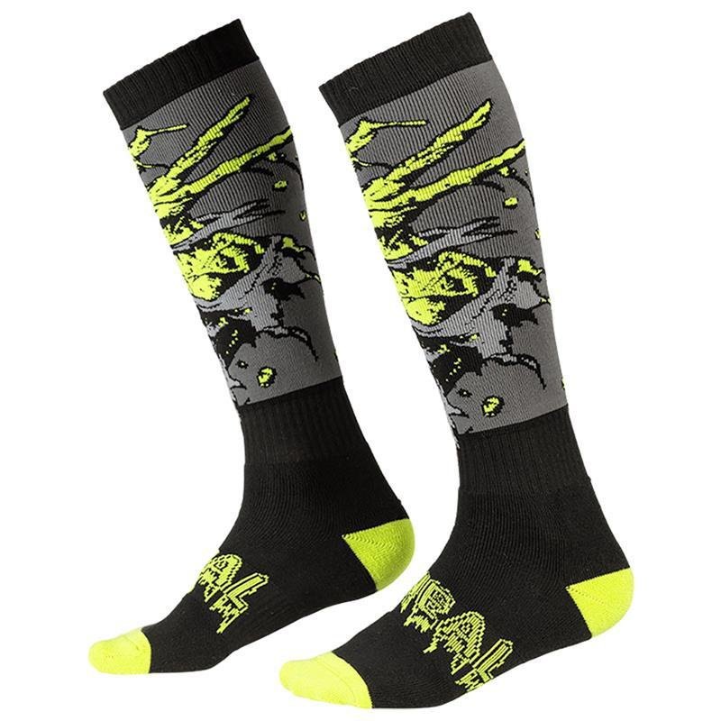 O'NEAL Unisex Socken Pro MX Zombie, Schwarz Grün