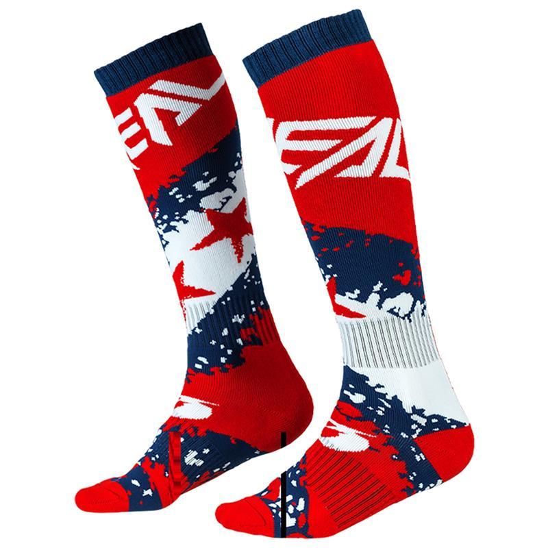 O'NEAL Unisex Socken Pro MX Stars, Rot Blau