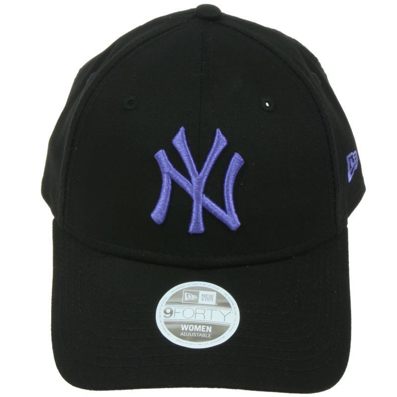 New Era Damen Baseball Cap League Essential 9Forty New York Yankees, Schwarz Lila, Einheitsgröße