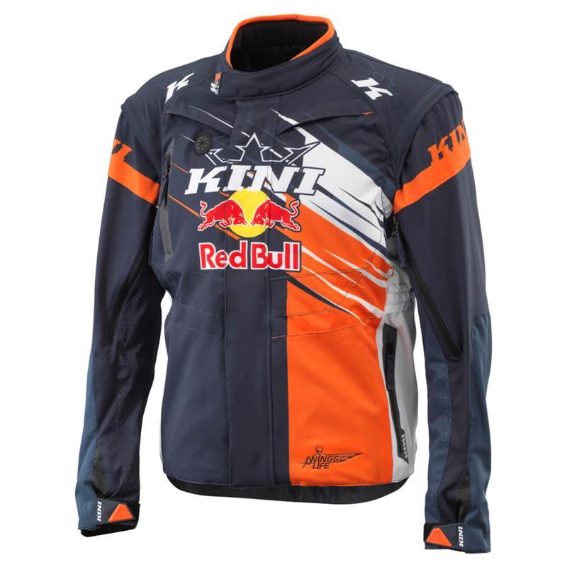 KINI Red Bull Herren Jacke Competition V2.1, Orange Weiß Anthrazit