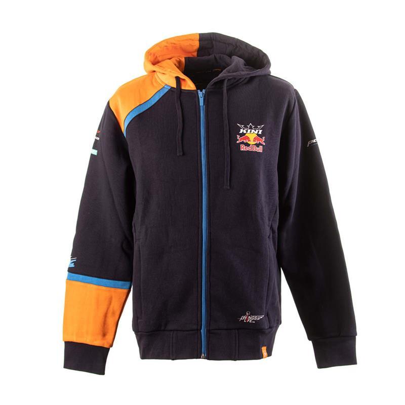 KINI Red Bull Team Herren Sweatjacke, Navy Orange