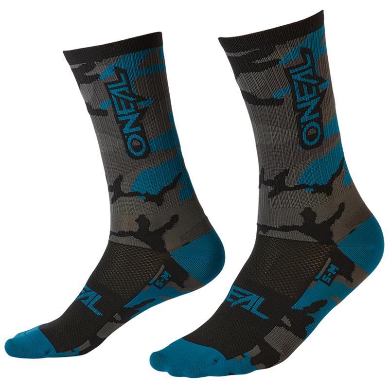 O'NEAL Unisex Socken MTB Performance Camo V.22, Grau Blau Schwarz