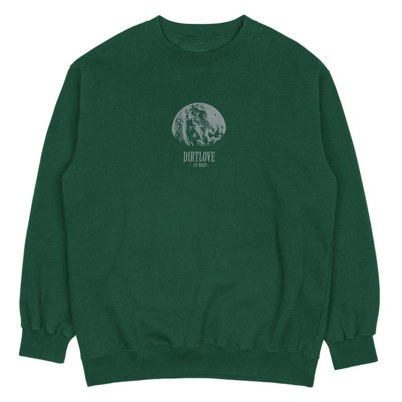 Dirt Love Clothing Unisex Sweatshirt Outset Crewneck, Bottle Green Dunkelgrün