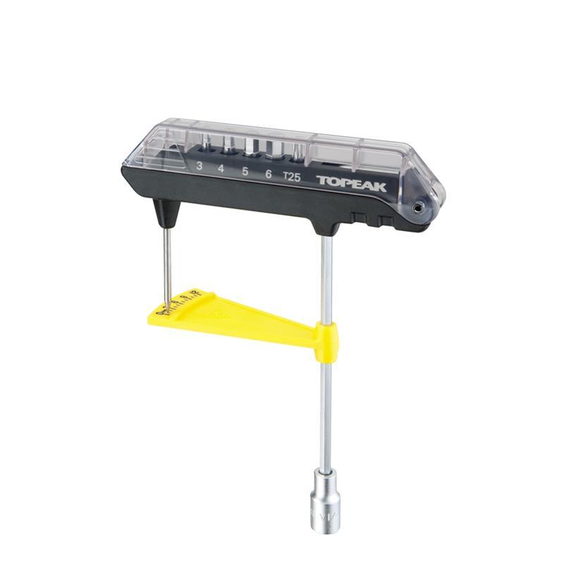 Topeak Drehmomentschlüssel ComboTorq Wrench & Bit Set, Schwarz
