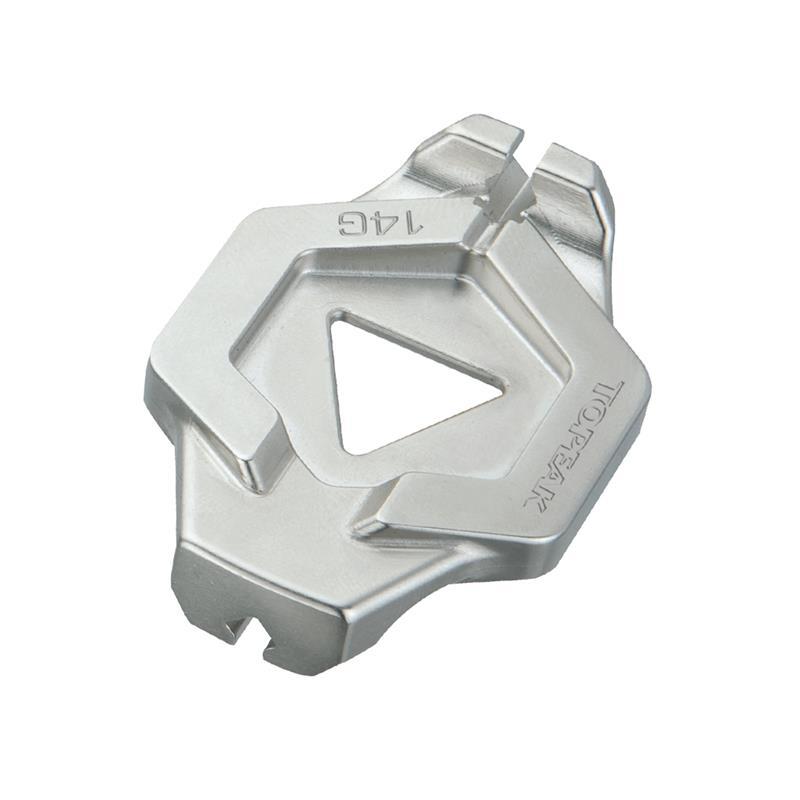 Topeak Speichennippel Duo Spoke Wrench 14G / 15G, Silber