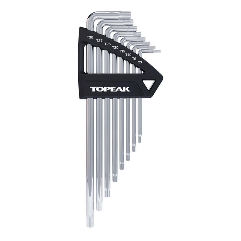 Topeak Innensechsrundschlüssel Torx Wrench 8 Stück, Silber