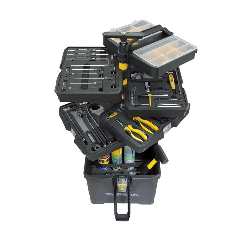 Topeak Werkzeugwagen PrepStation 52-teilig, Schwarz
