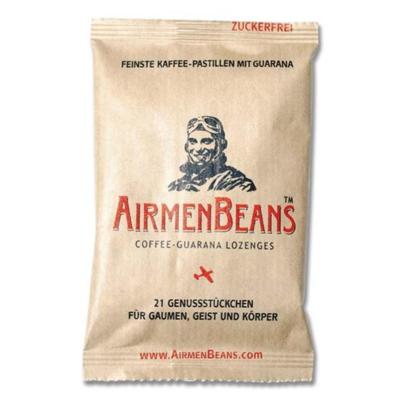 AirmenBeans Kaffee Pastillen mit Guarana 21er Set, Braun