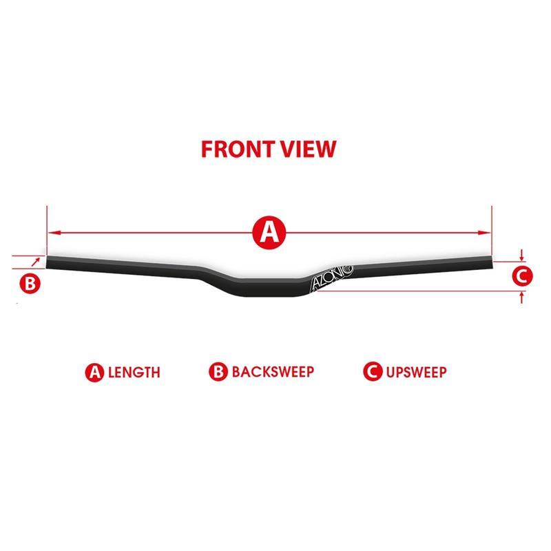 Azonic Fahrradlenker Flow Handlebar 31,8 mm / 750 mm