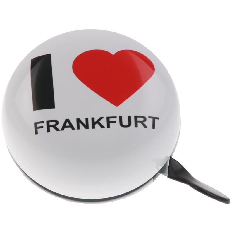 SAMs Fahrradklingel DingDong I Love Frankfurt, Weiß