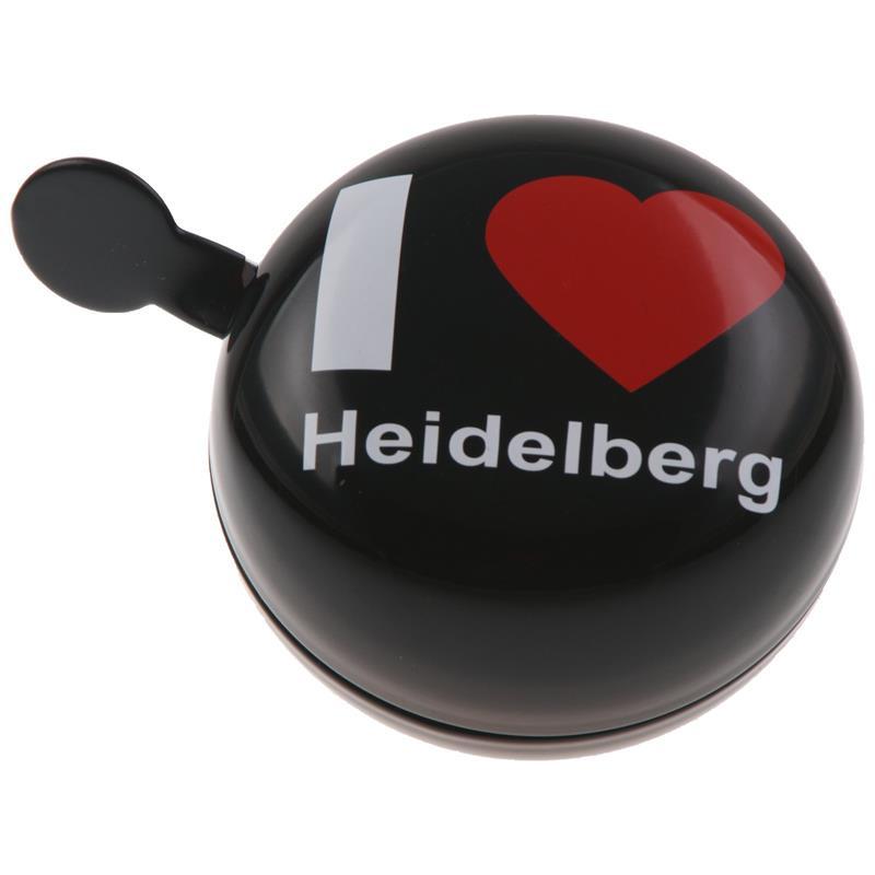 SAMs Fahrradklingel DingDong I Love Heidelberg, Schwarz