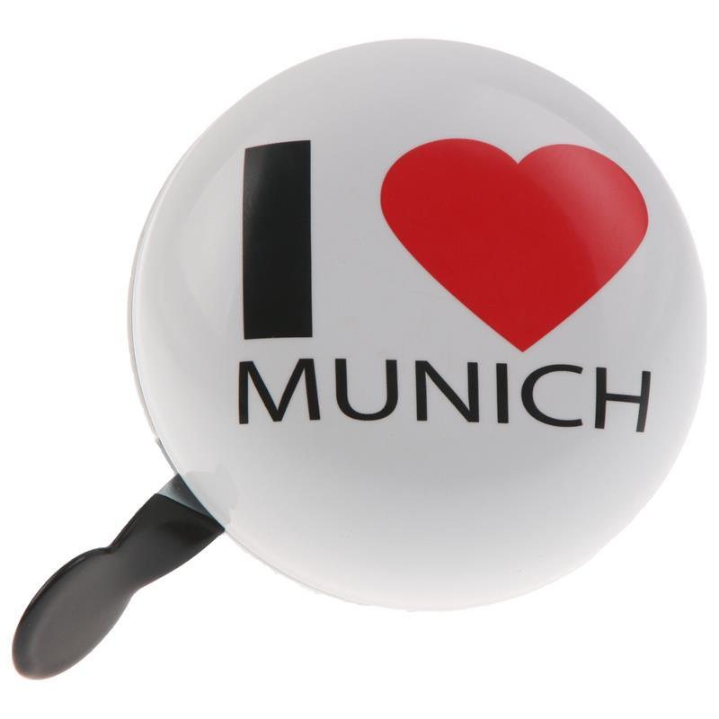 SAMs Fahrradklingel DingDong I Love Munich, Weiß