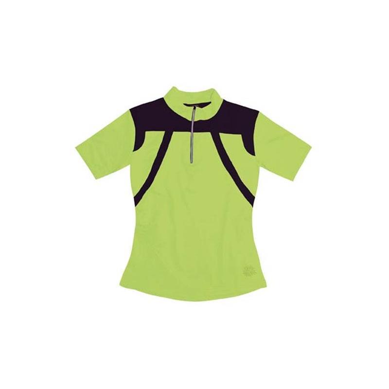 Sportful Damen Trikot Kurzarm Fiore Lime, Grün Schwarz