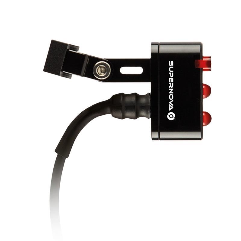 SUPERNOVA LED Rücklicht E3 Tail Light 2 Sattelstützenmontage, Schwarz