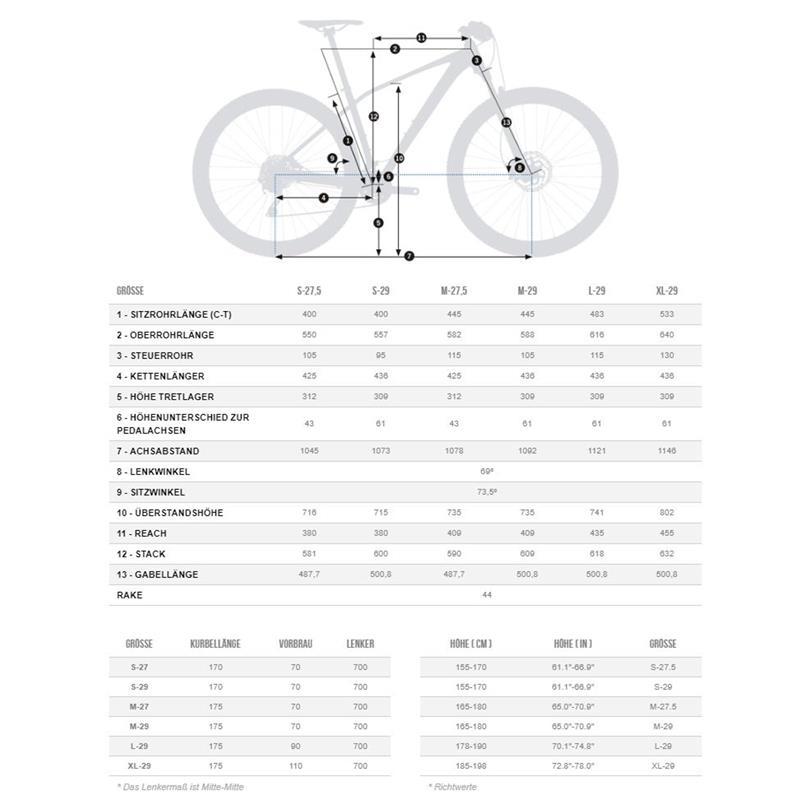 "Orbea Unisex Fahrrad Alma H50 MTB Hardtail, 22 Gang, 29"""