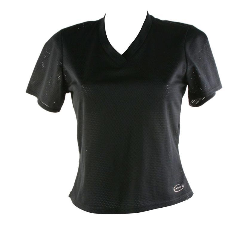 Psoas Damen Fitness T-Shirt Web Shirt, Schwarz