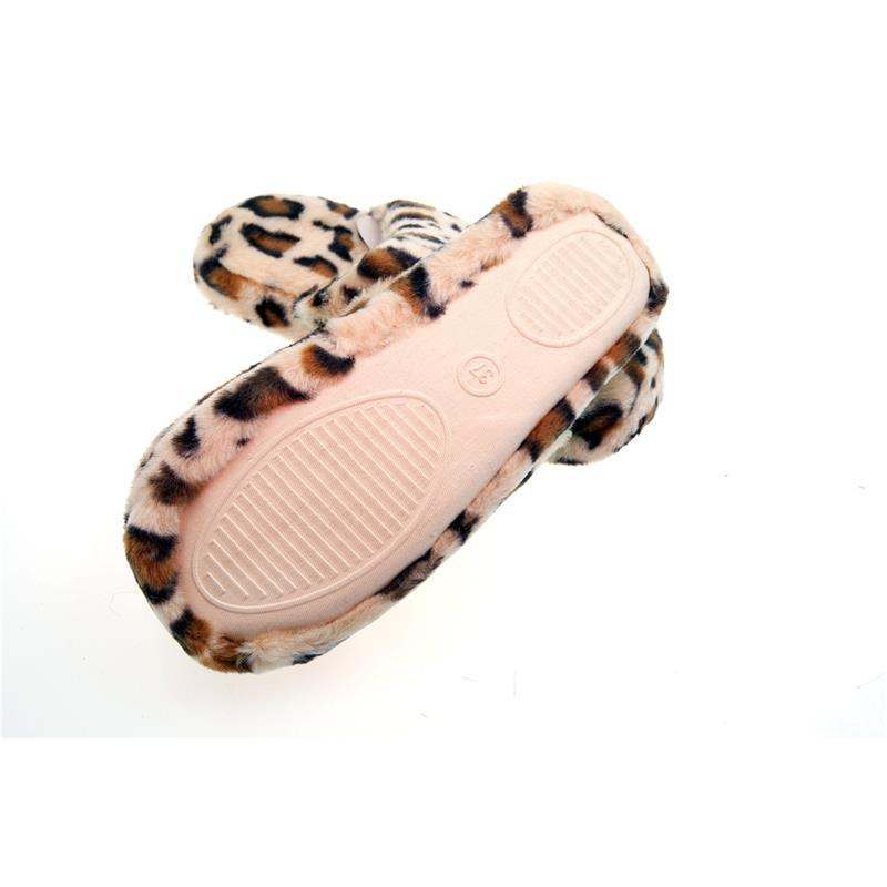 SAMs Hausschuhe Leopard, Braun