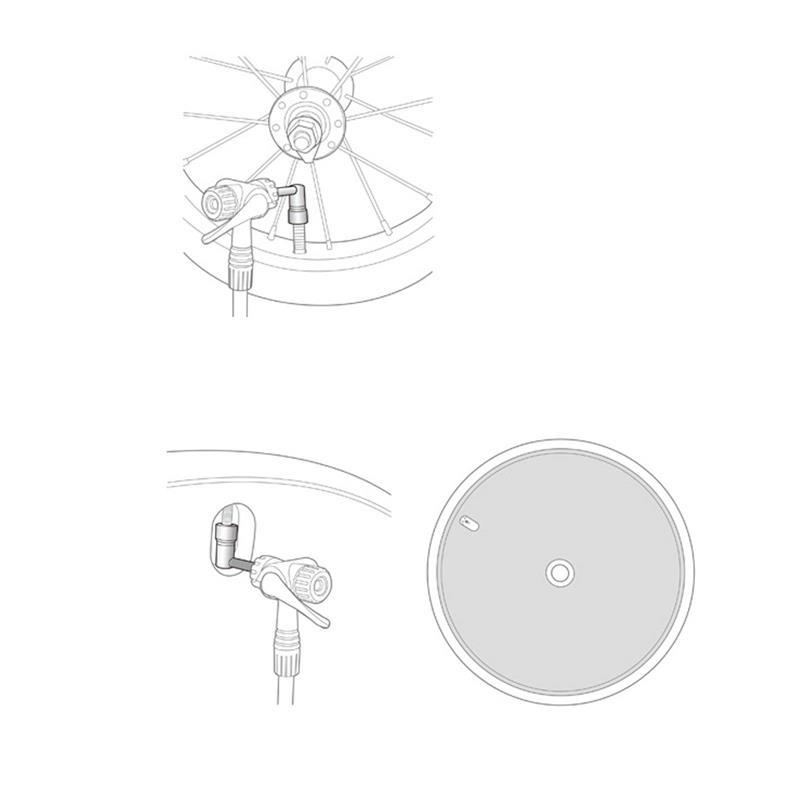 Topeak Ventiladapter Pressure Rite 90°, Silber