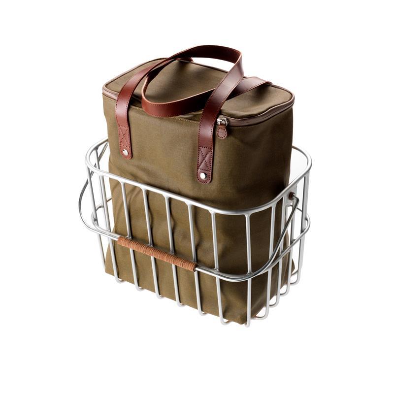 Brooks Fahrradkorb Hoxton Wire Basket 25 Liter, Silber