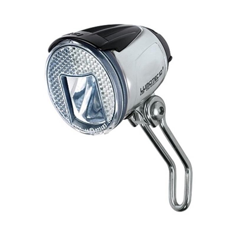 Busch & Müller LED Scheinwerfer Lumotec IQ Cyo R Senso Plus Alu-Look, Silber