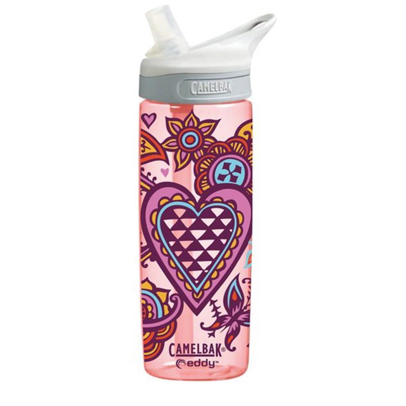 Camelbak Kinder Trinkflasche Eddy Hearts 600 ml, Rosa
