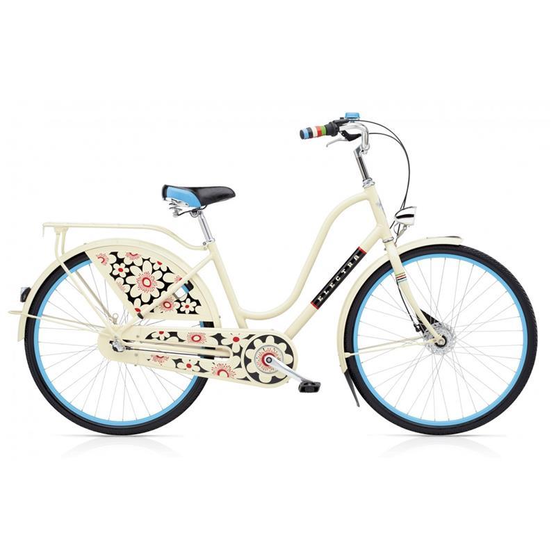 """Electra Damen Fahrrad Amsterdam Fashion 3i Bloom Hollandrad, Cream, 3 Gang, 28"""""""