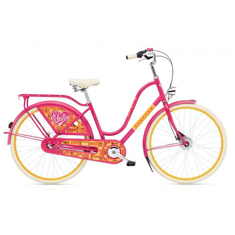 """Electra Damen Fahrrad Amsterdam Fashion 3i Joyride Hollandrad, Pink, 3 Gang, 28"""""""