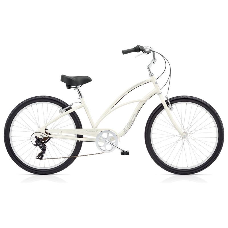 "Electra Damen Fahrrad Cruiser 7D Beachcruiser, Weiß, 7 Gang, 26"""