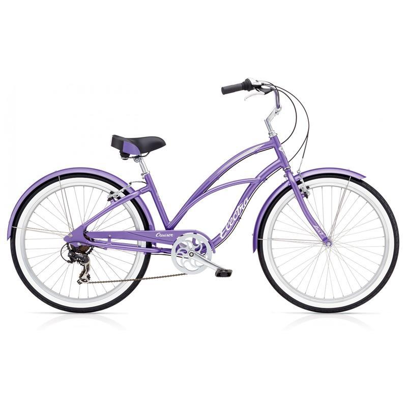 """Electra Damen Fahrrad Cruiser Lux 7D Beachcruiser, Lila, 7 Gang, 26"""""""