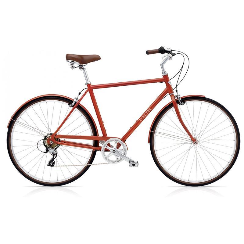 "Electra Herren Fahrrad Loft 7D Stadtrad, Rot, 7 Gang, 55 cm, 28"""