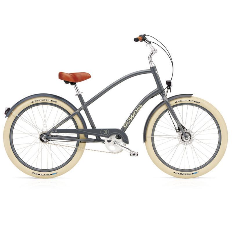 "Electra Herren Fahrrad Townie Balloon 7i EQ Stadtrad, Grau, 7 Gang, 26"""