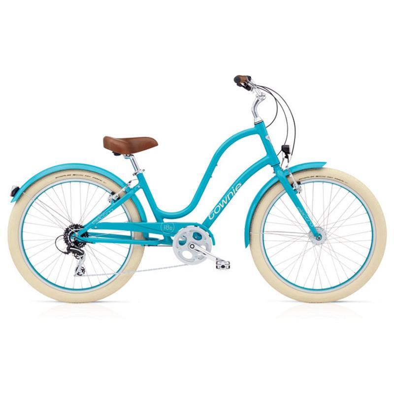 """Electra Damen Fahrrad Townie Balloon 8D EQ Stadtrad, Azure Blau, 8 Gang, 26"""""""
