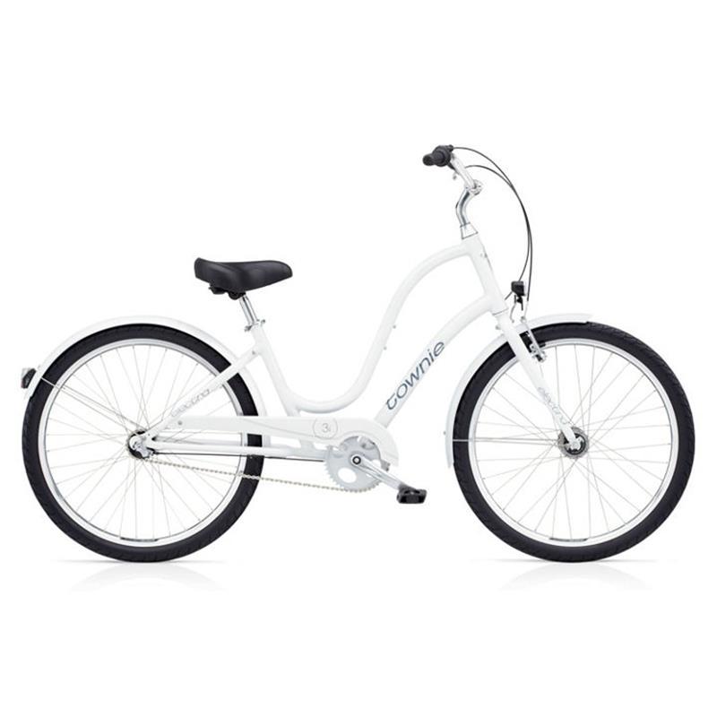"Electra Damen Fahrrad Townie Original 3i EQ Stadtrad, Weiß, 3 Gang, 26"""