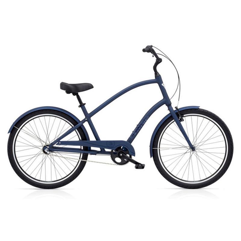 "Electra Herren Fahrrad Townie Original 3i Stadtrad, Blau, 3 Gang, 26"""