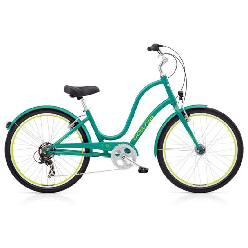 "Electra Damen Fahrrad Townie Original 7D EQ Stadtrad, Grün, 7 Gang, 26"""