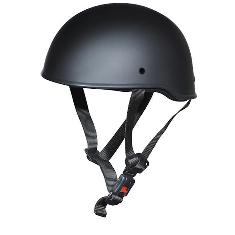 Germot Halbschalenhelm GM 10 Braincap, Schwarz