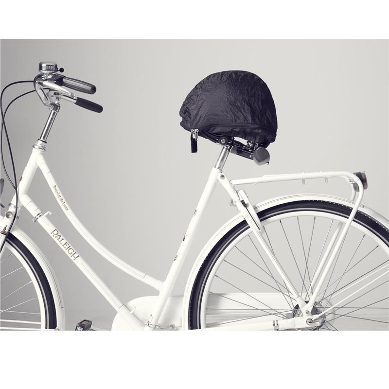 HelmMate Verschließbares Sattelcover & Helmtasche, Schwarz