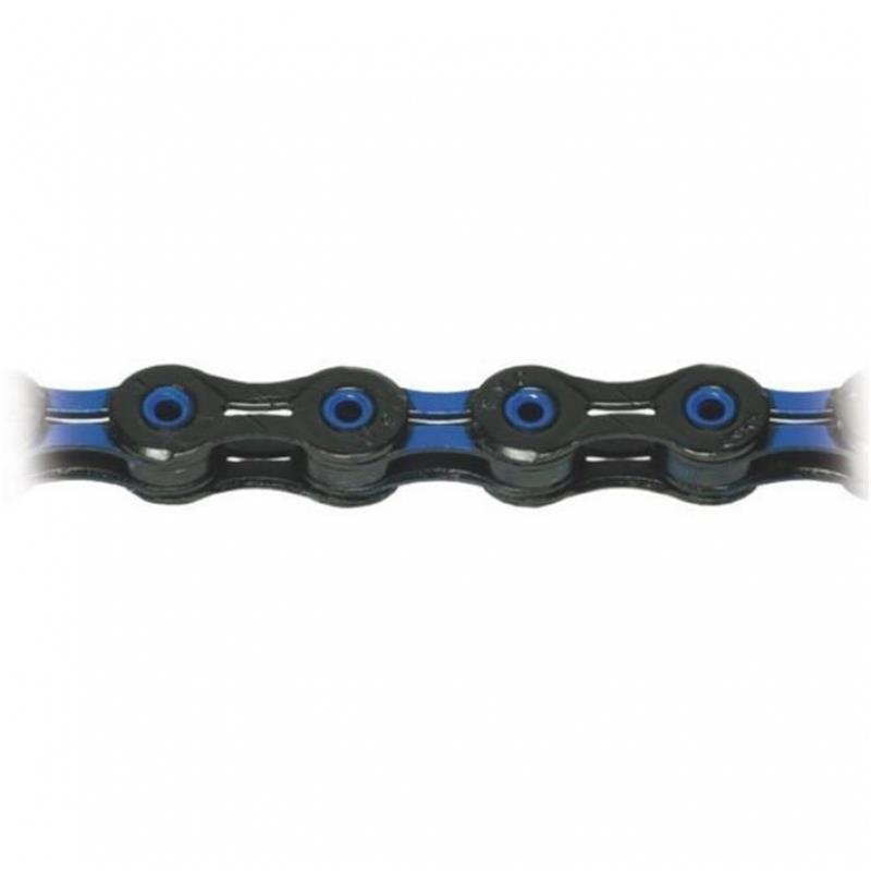 KMC Fahrradkette X-10 SL Superlight DLC 10-fach, Schwarz Blau