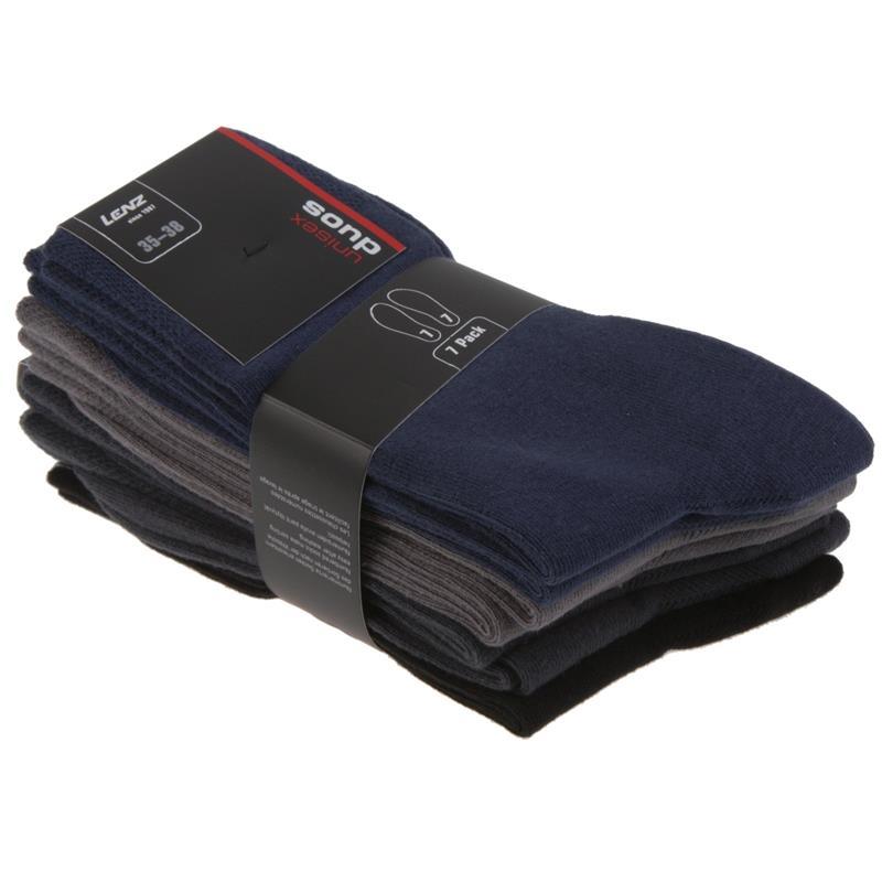 Lenz Unisex Socken Duos 7 Paar Nummeriert 1-7, Gemischte Farben