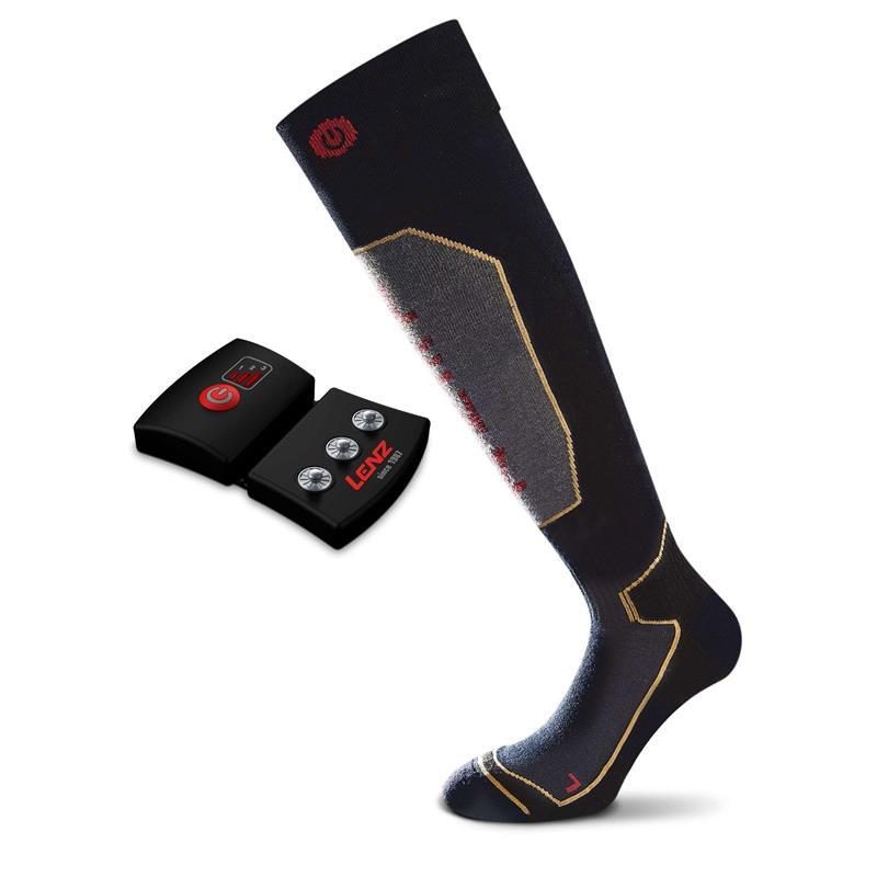 Lenz Unisex Beheizbare Socken & Akkus Heat 1.0 mit Lithium Pack rcB1200, Schwarz Grau